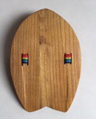 Colibri Surf Handboard Handplane 12 Strap Rainbow 3